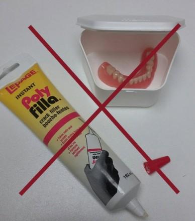 No DIY Denture Glue